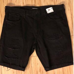 NWT Express Men's Slim Denim Shorts